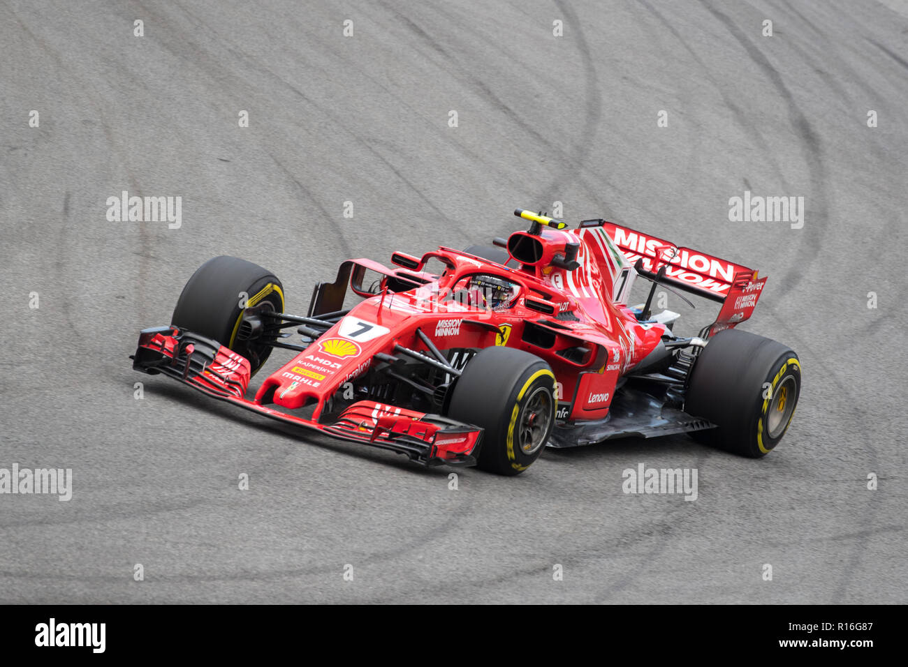 Circuit Interlagos : Sao paulo sao paulo brazil. 9th nov 2018. kimi raikkonen of