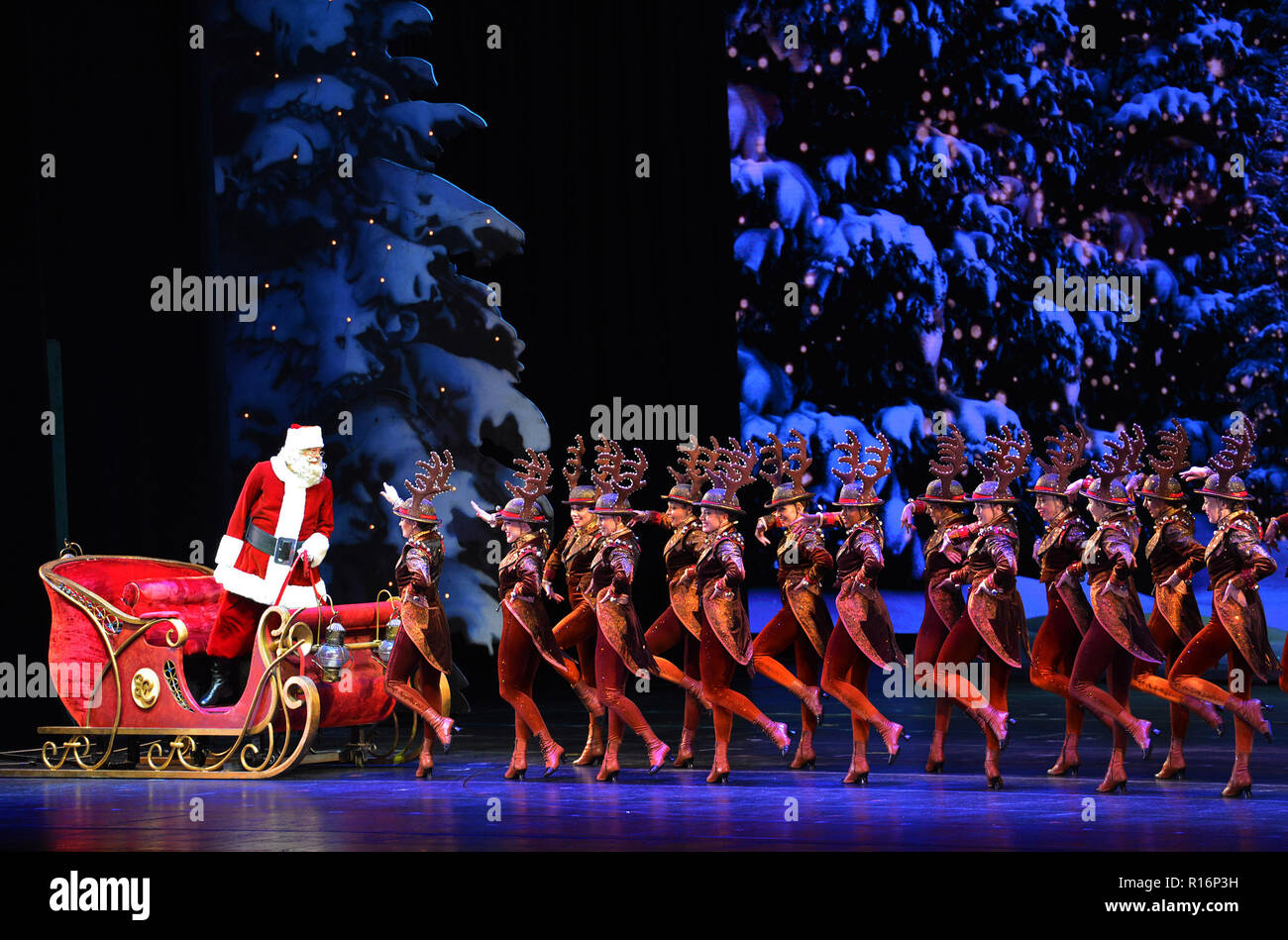 Christmas Show 2019 New York, Nov. 9. 1st Jan, 2019. The Rockettes perform during the