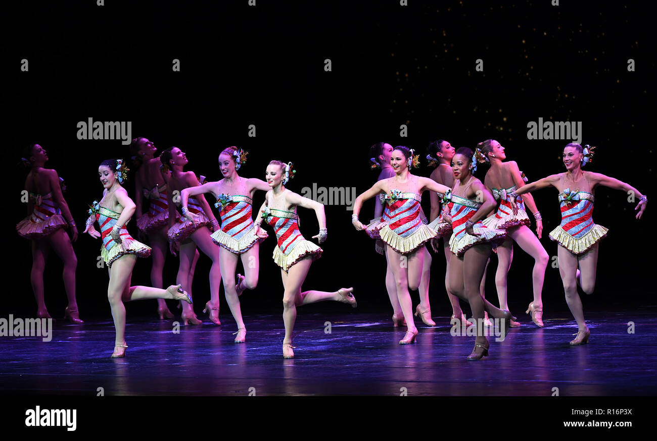 Rockettes Christmas Show.New York Nov 9 1st Jan 2019 The Rockettes Perform