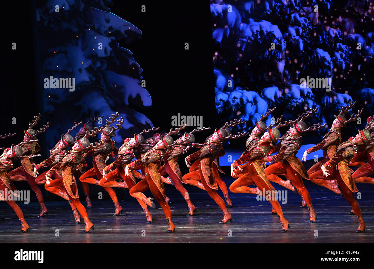 Christmas Music On Radio 2019 New York, Nov. 9. 1st Jan, 2019. The Rockettes perform during the