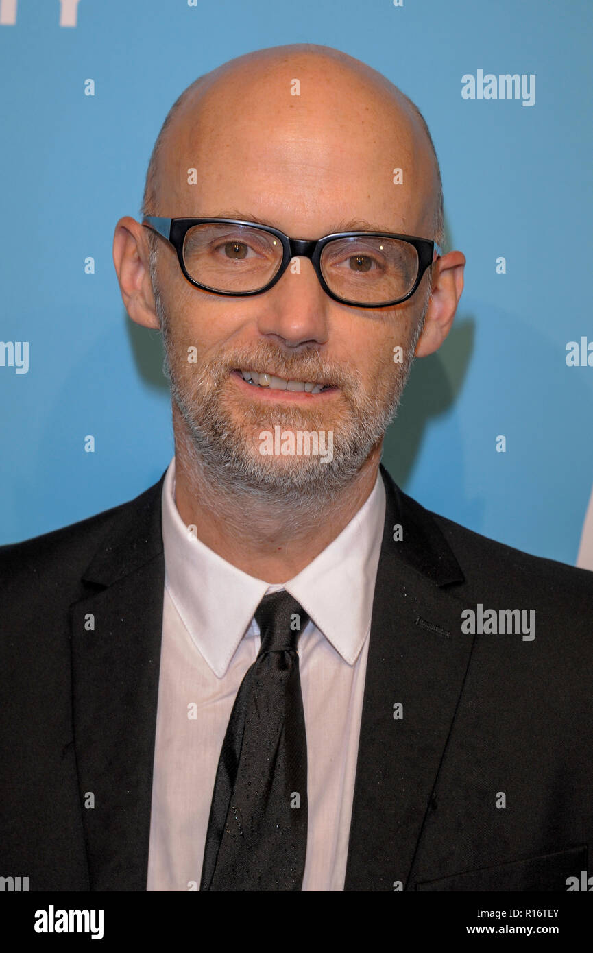 NEW YORK, NY - NOVEMBER 09: Moby attends The Humane Society's 9th Annual To The Rescue! Gala at Cipriani 42nd Street on November 9, 2018 in New York City. Credit: Ron Adar/Alamy Live News - Stock Image