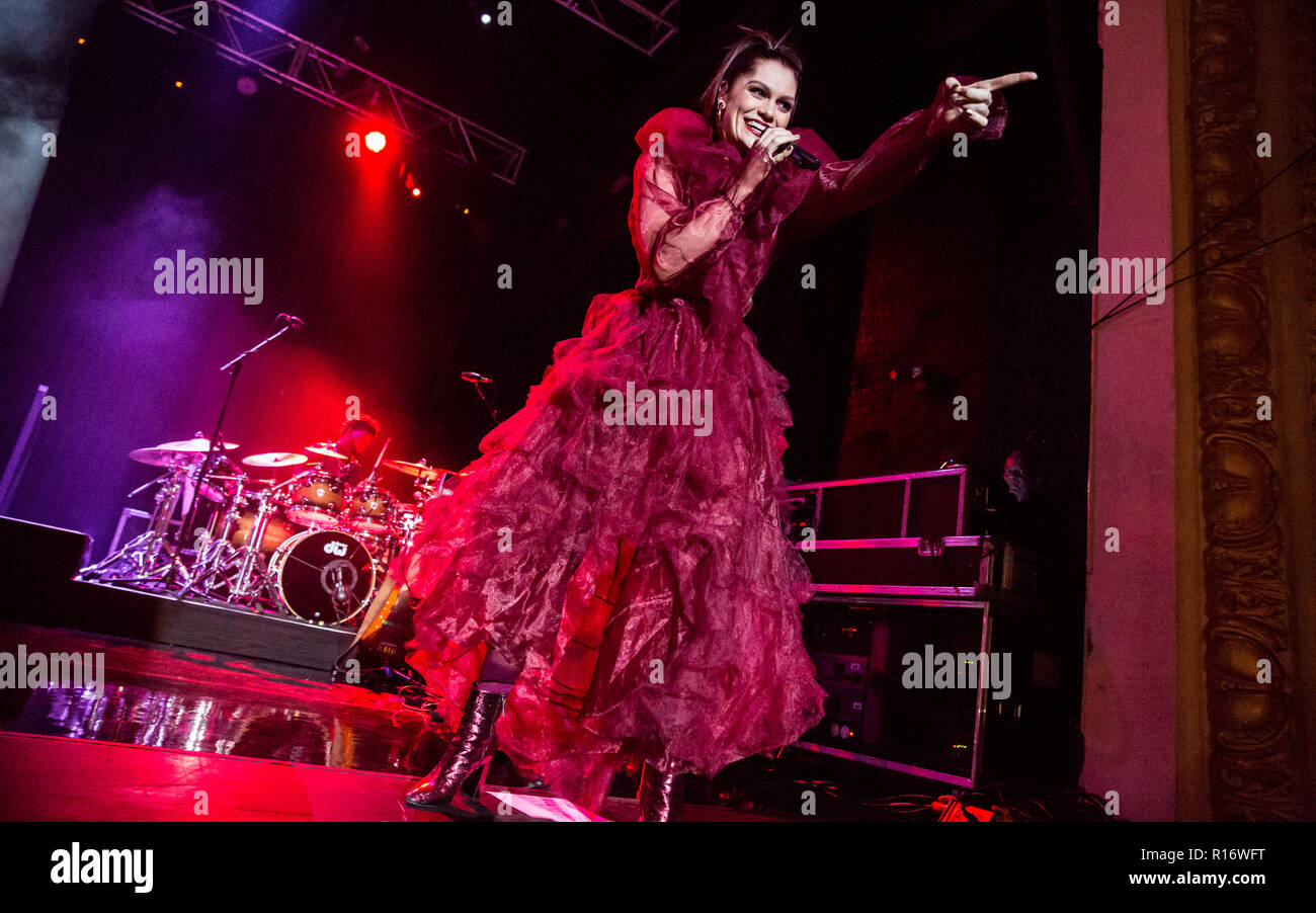 Bournemouth, UK 9th November 2018  Jessie J performs at the O2