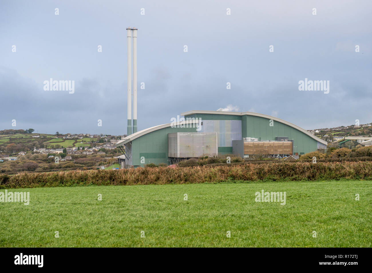 cornwall energy recover centre - Stock Image
