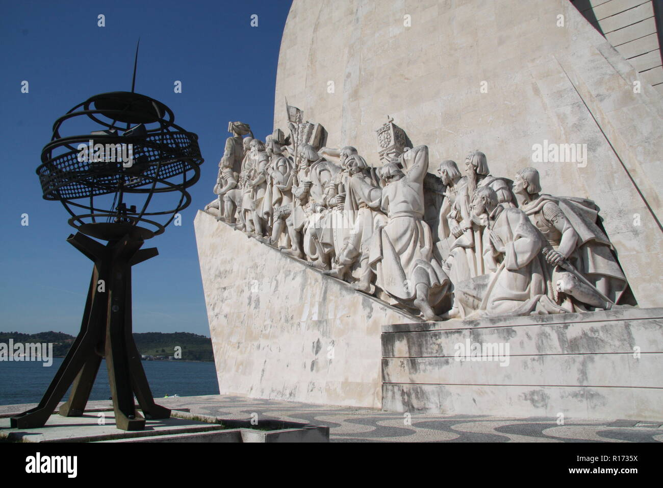 Monument to the Discoveries, Belem, Lisbon - Stock Image