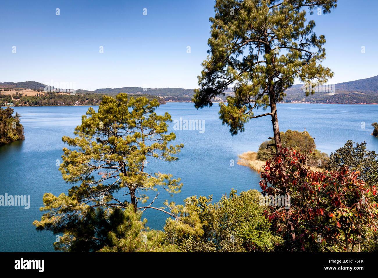 View of Lake Zirahuen in Michoacan, Mexico. - Stock Image
