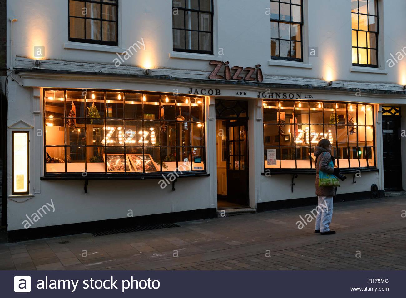 Zizzi Italian Restaurant, High St, Winchester, Hampshire, England, UK - Stock Image
