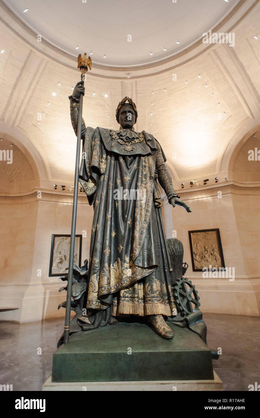 Bronze Jacques-Louis David Napoleon on Horseback Statue Souvenirs of France Color