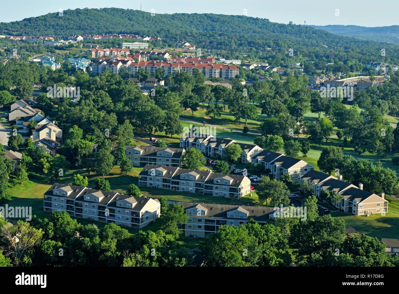 Suburban developments near Branson, Table Rock State Park, Branson, Missouri, USA - Stock Image