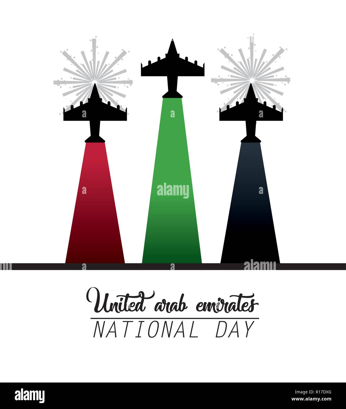 military airplanes to celebrate national day - Stock Image