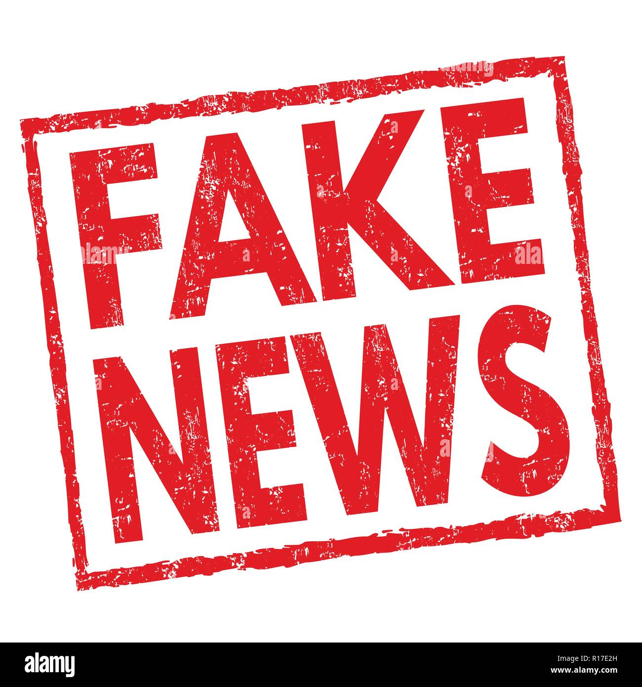 Fake news sign or stamp on white background, vector illustration - Stock Vector