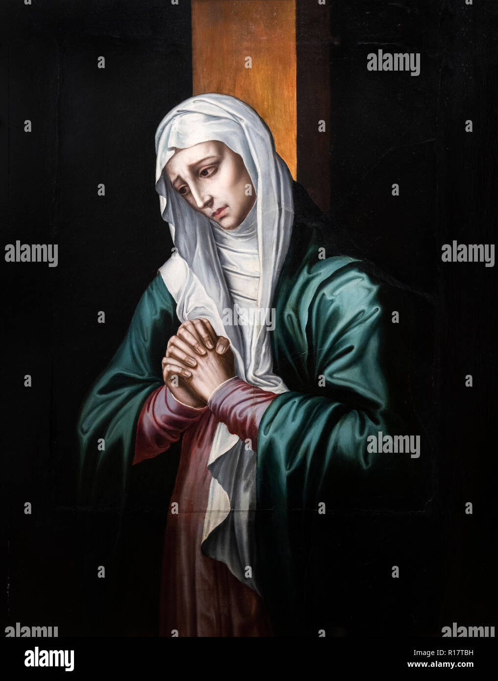 The Virgin of Sorrow (La Virgen Dolorosa) by Luis de Morales (1512-1586), c.1560 - Stock Image