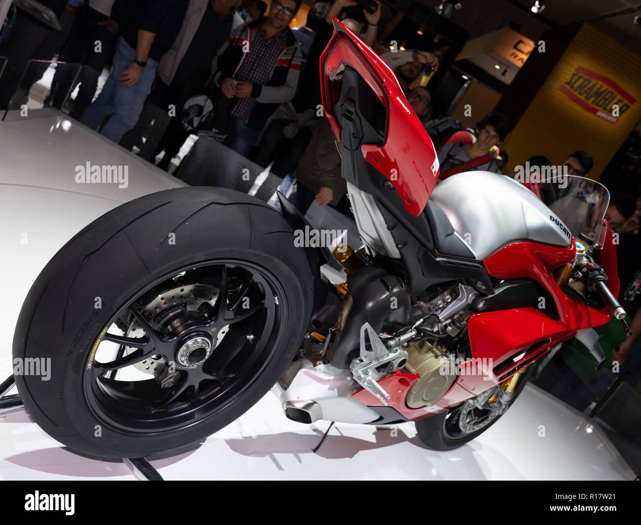 Milan Italy Nov 08 2018 Ducati Panigale V4 R At Eicma