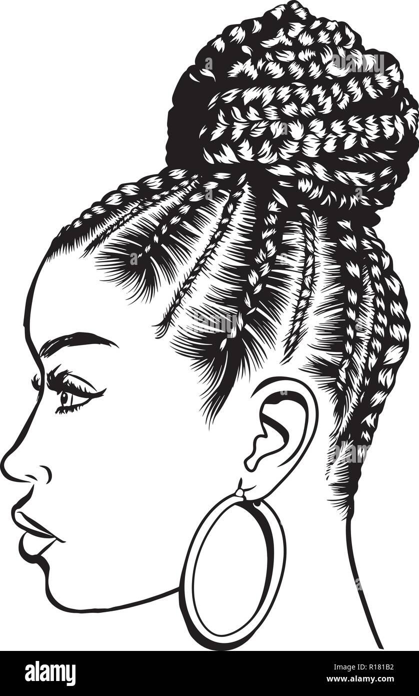 Black Woman Praying Clip Art