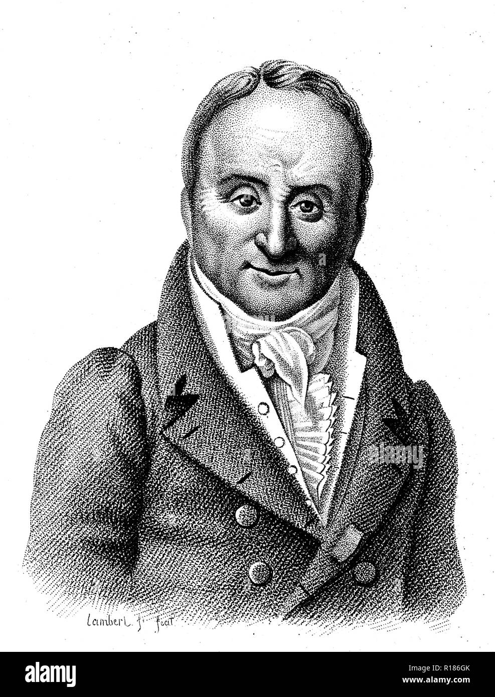 PHILLIPE PINEL (1745-1826) French physician - Stock Image