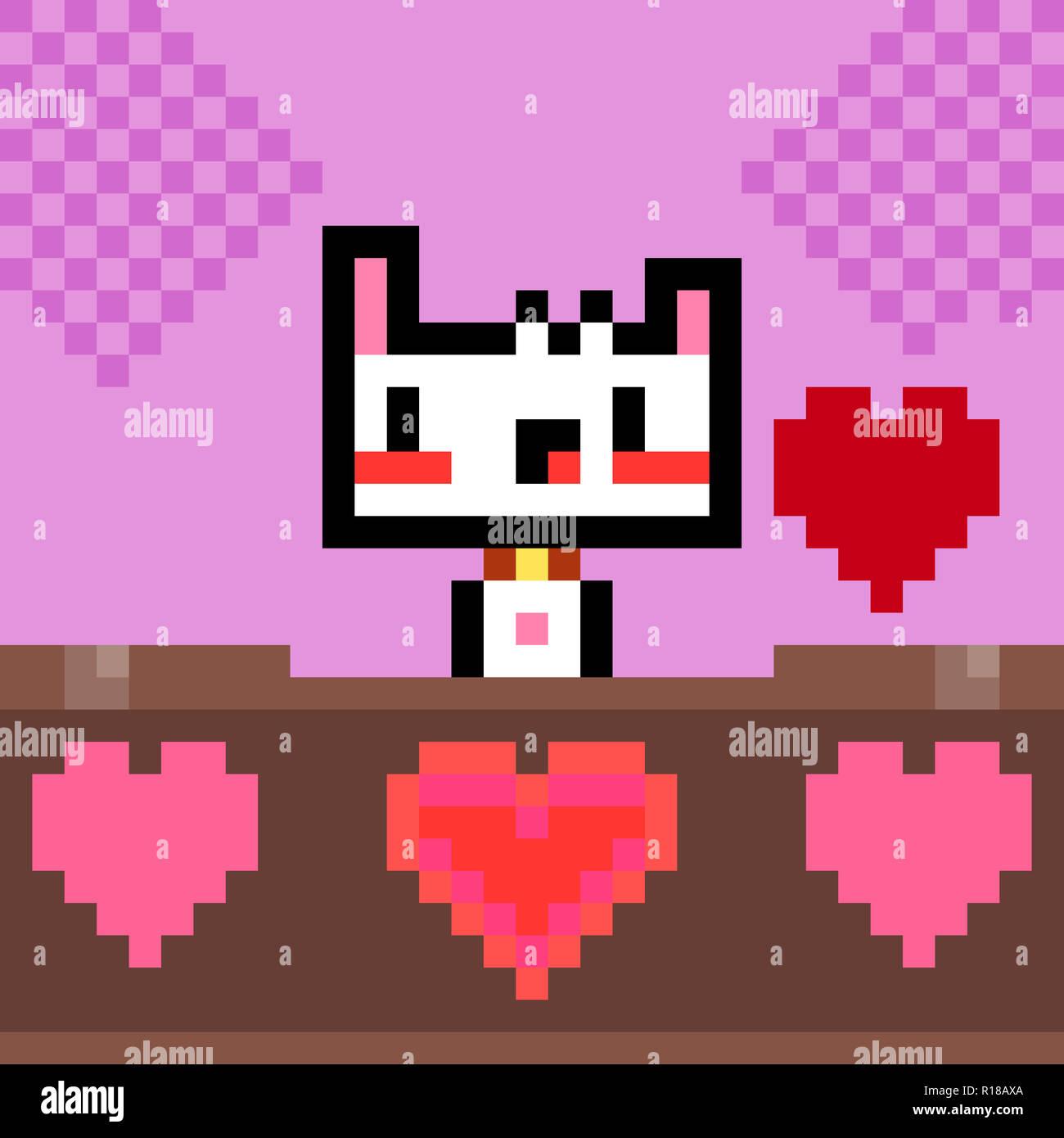 Heart Pixel 8 Bit Stock Photos Heart Pixel 8 Bit Stock