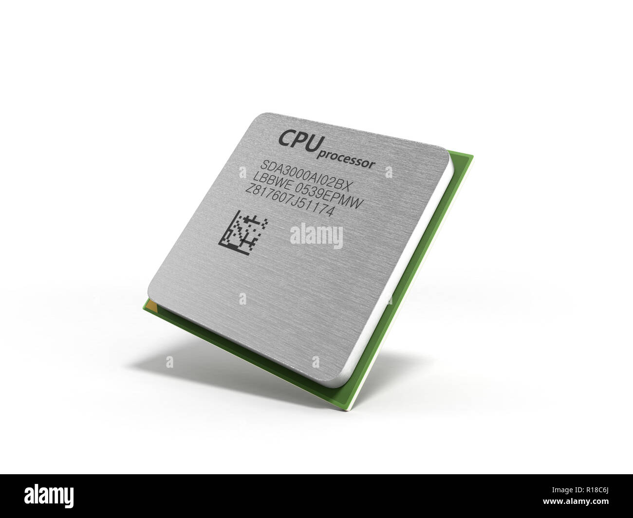 Central Computer Processors CPU High resolution 3d render Stock Photo
