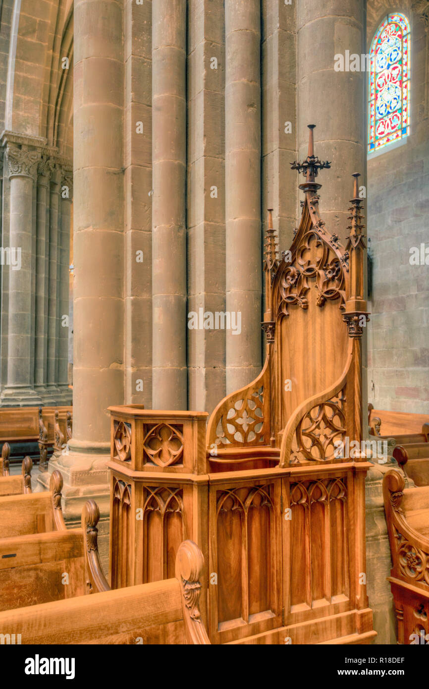 GENEVA, SWITZERLAND : St. Peter's Cathedral - Stock Image