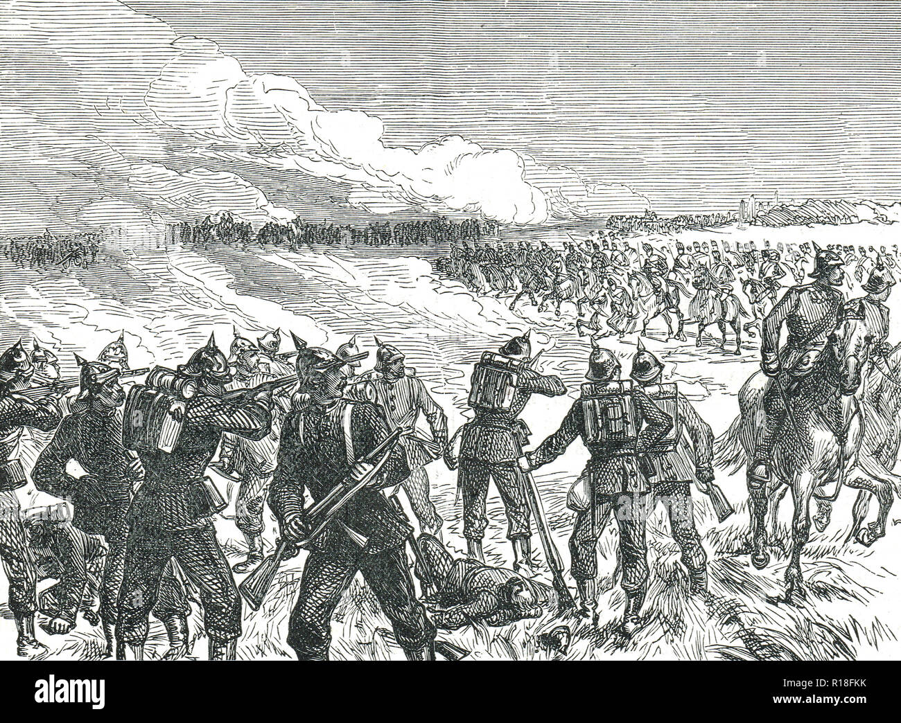 The Battle of Langensalza, 27 June 1866 - Stock Image