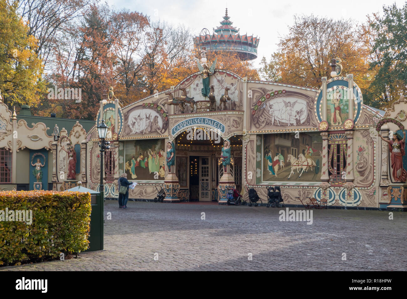 Carrousel Theater in Efteling amusement park - Stock Image