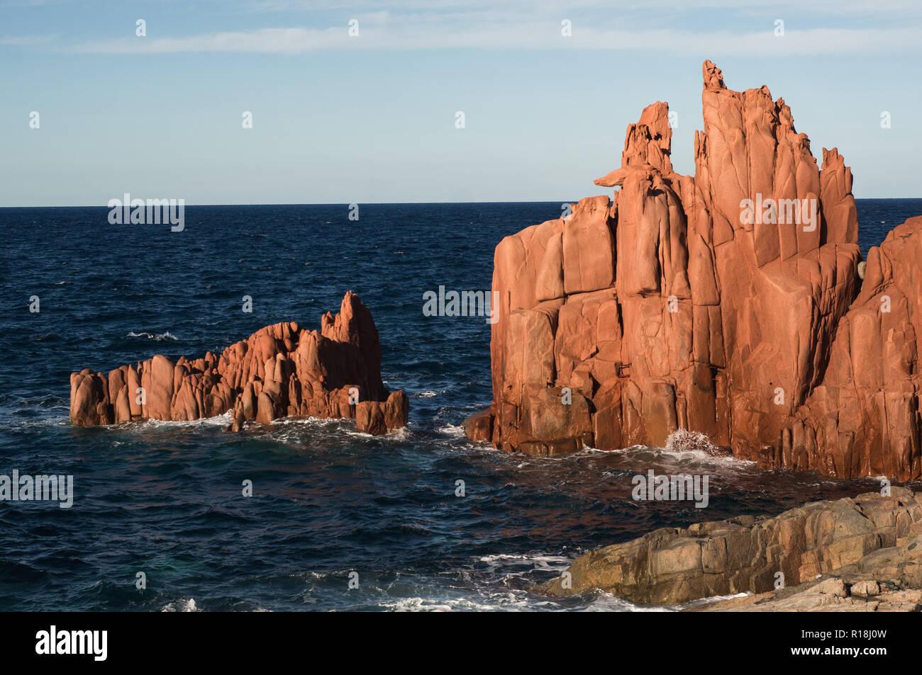 Red rocks of Arbatax, Sardinia - Stock Image