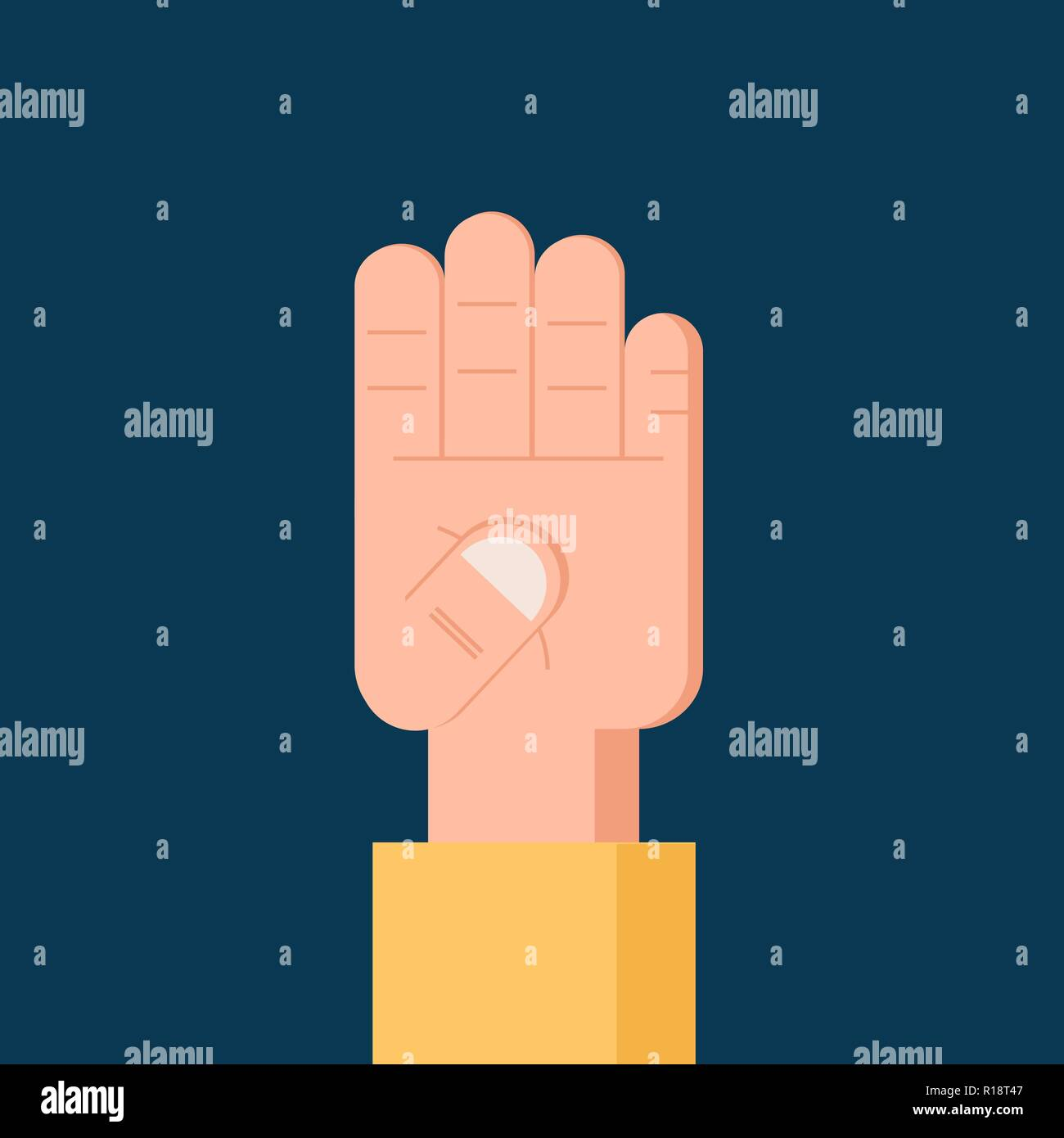 Number 4 four Flat icon. Isolated Vector symbol - Stock Vector
