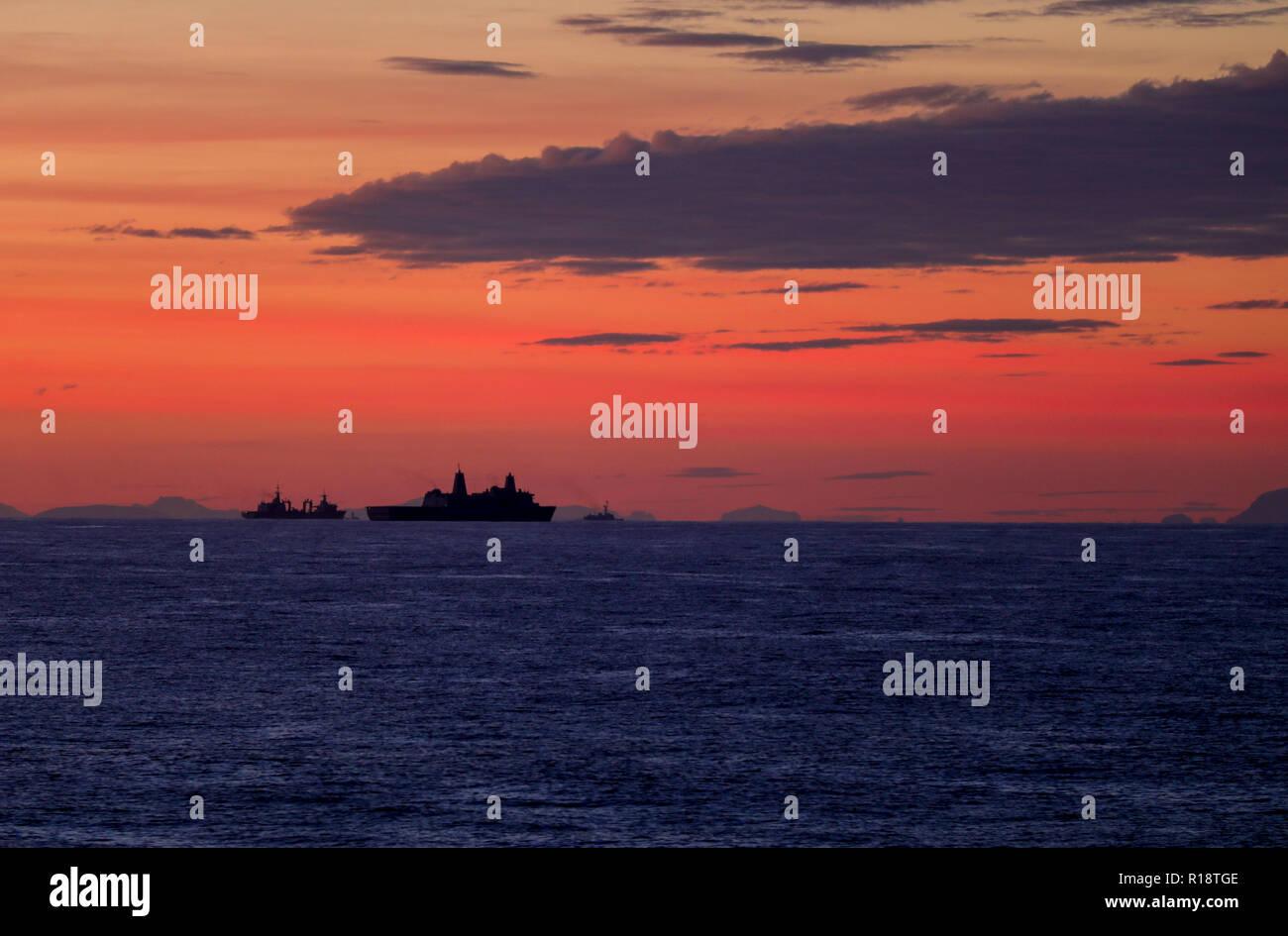 USS New York amphibious assault ship Stock Photo