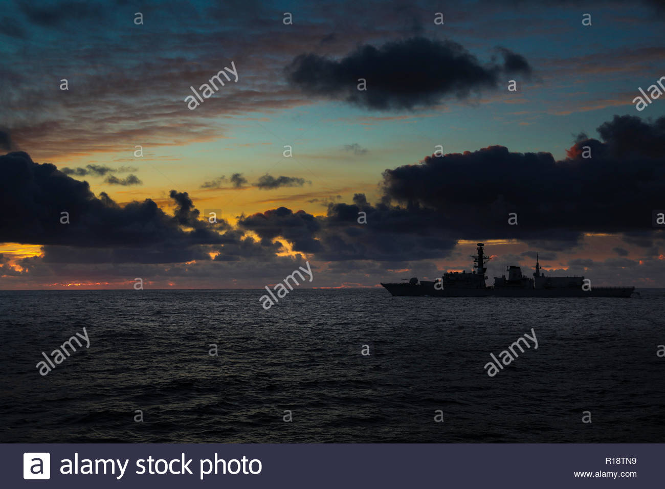 Royal Navy Type 23 frigate - Stock Image