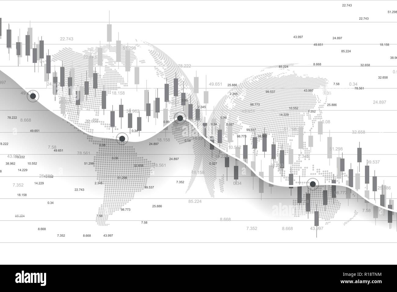 Stock market and exchange  Business Candle stick graph chart