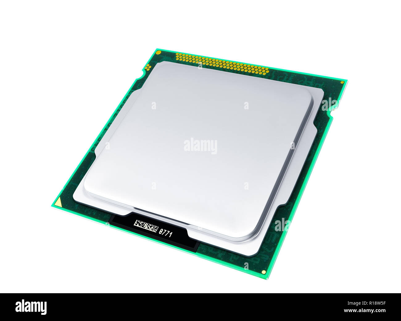 Computer Processors CPU High resolution 3d render no shadow - Stock Image