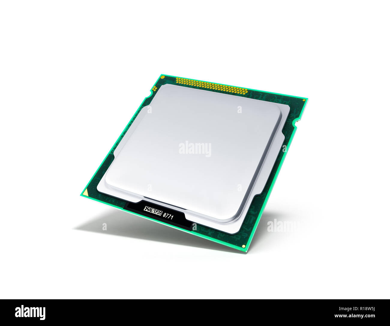 Computer Processors CPU High resolution 3d render - Stock Image