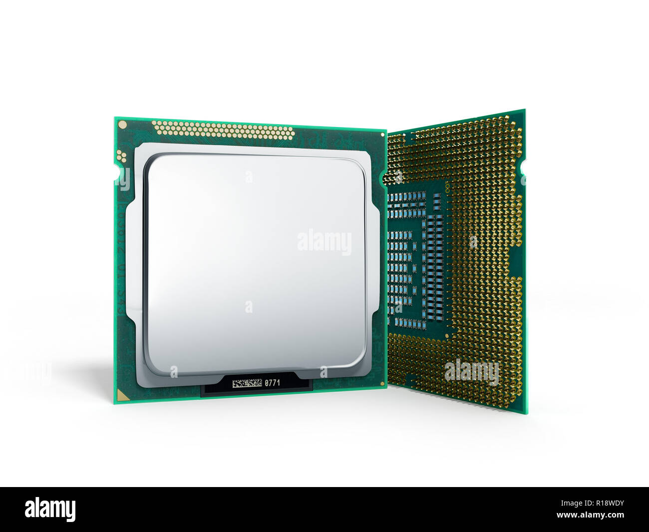 Central Computer Processors CPU High resolution 3d illustration - Stock Image