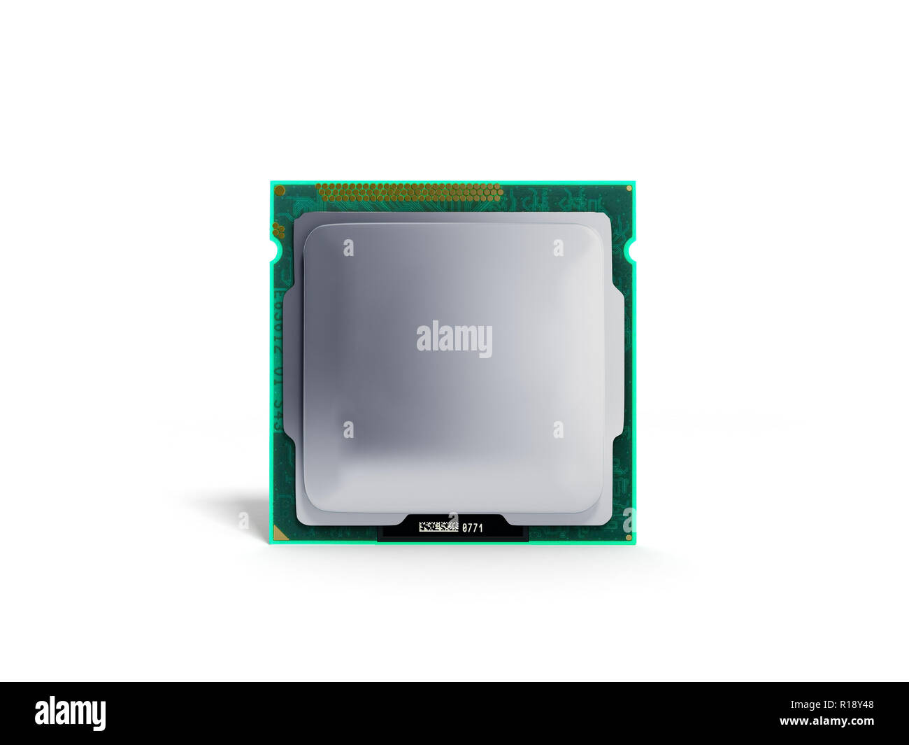 Computer Processors CPU High resolution 3d render on white - Stock Image