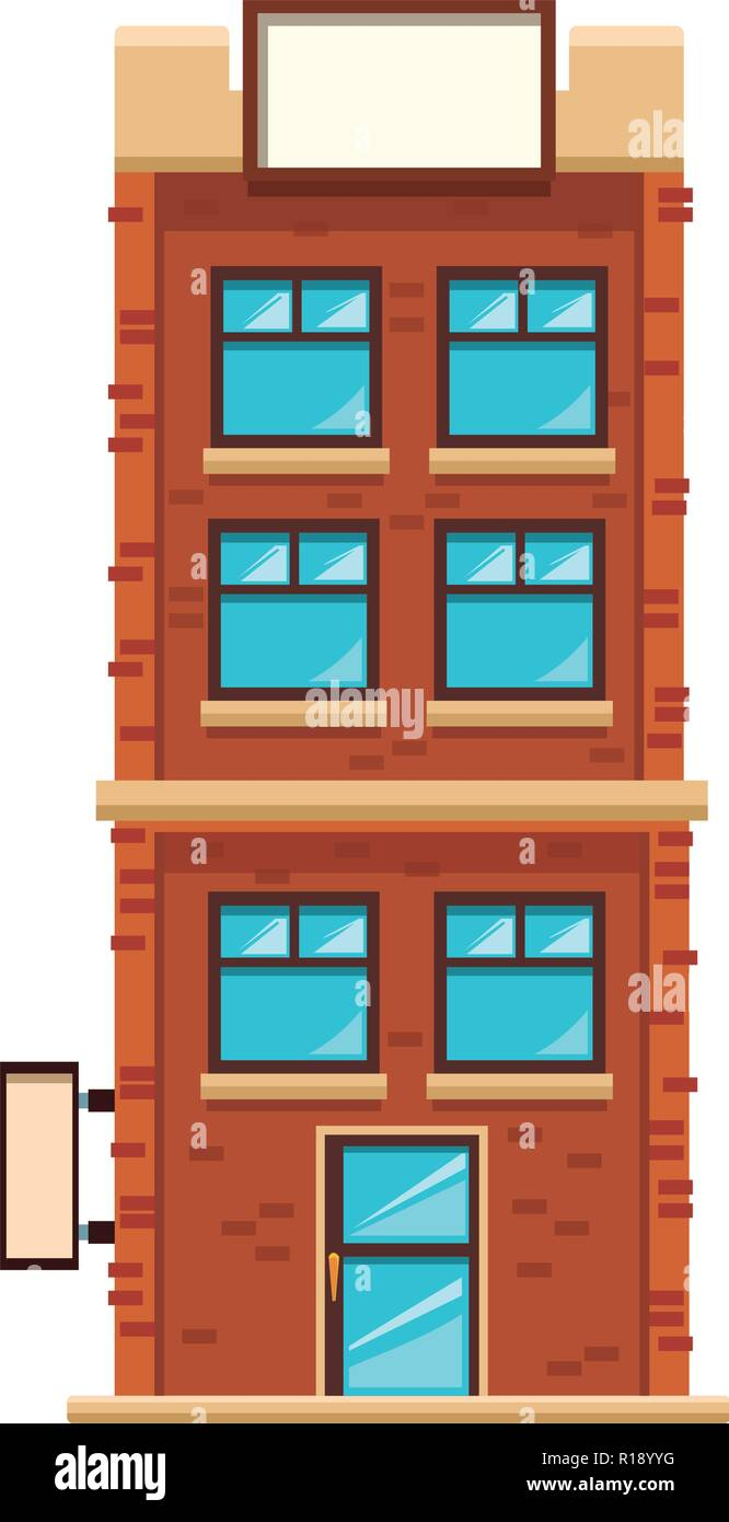 apartments building cartoon vector illustration graphic ...
