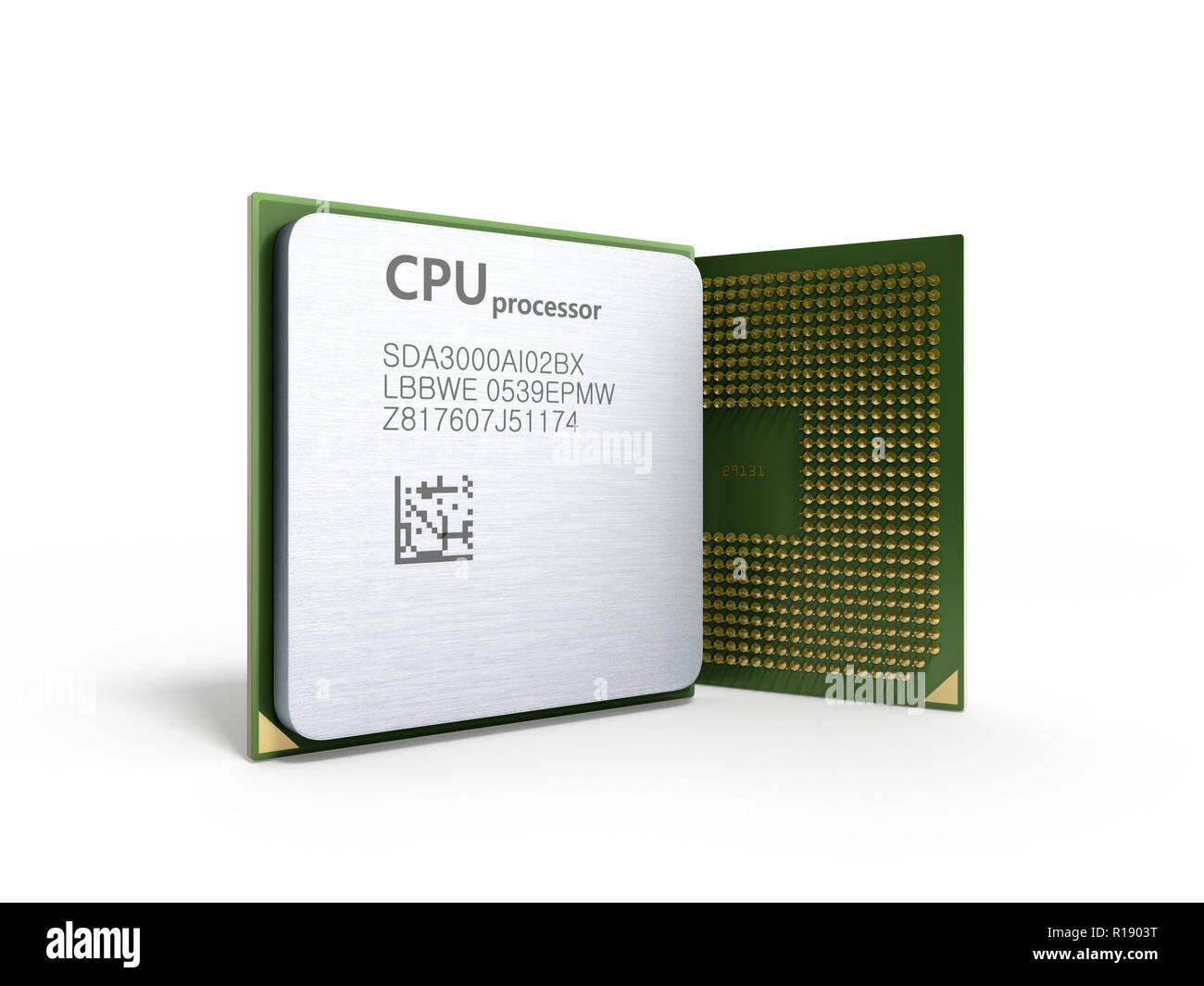 Central Computer Processors CPU High resolution 3d render - Stock Image