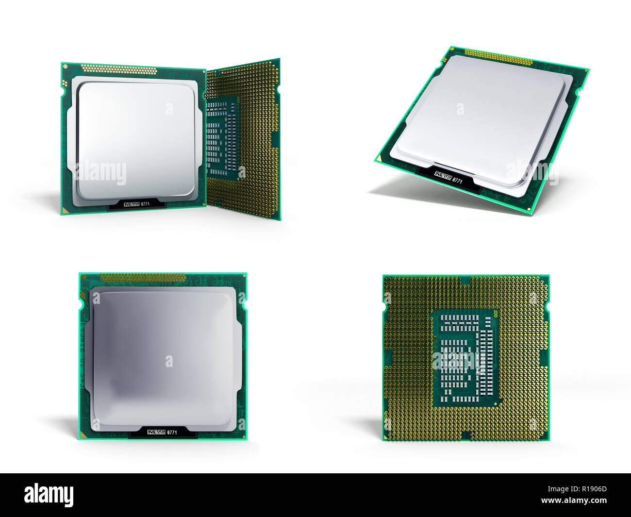 collection Central Computer Processors CPU High resolution 3d illustration - Stock Image