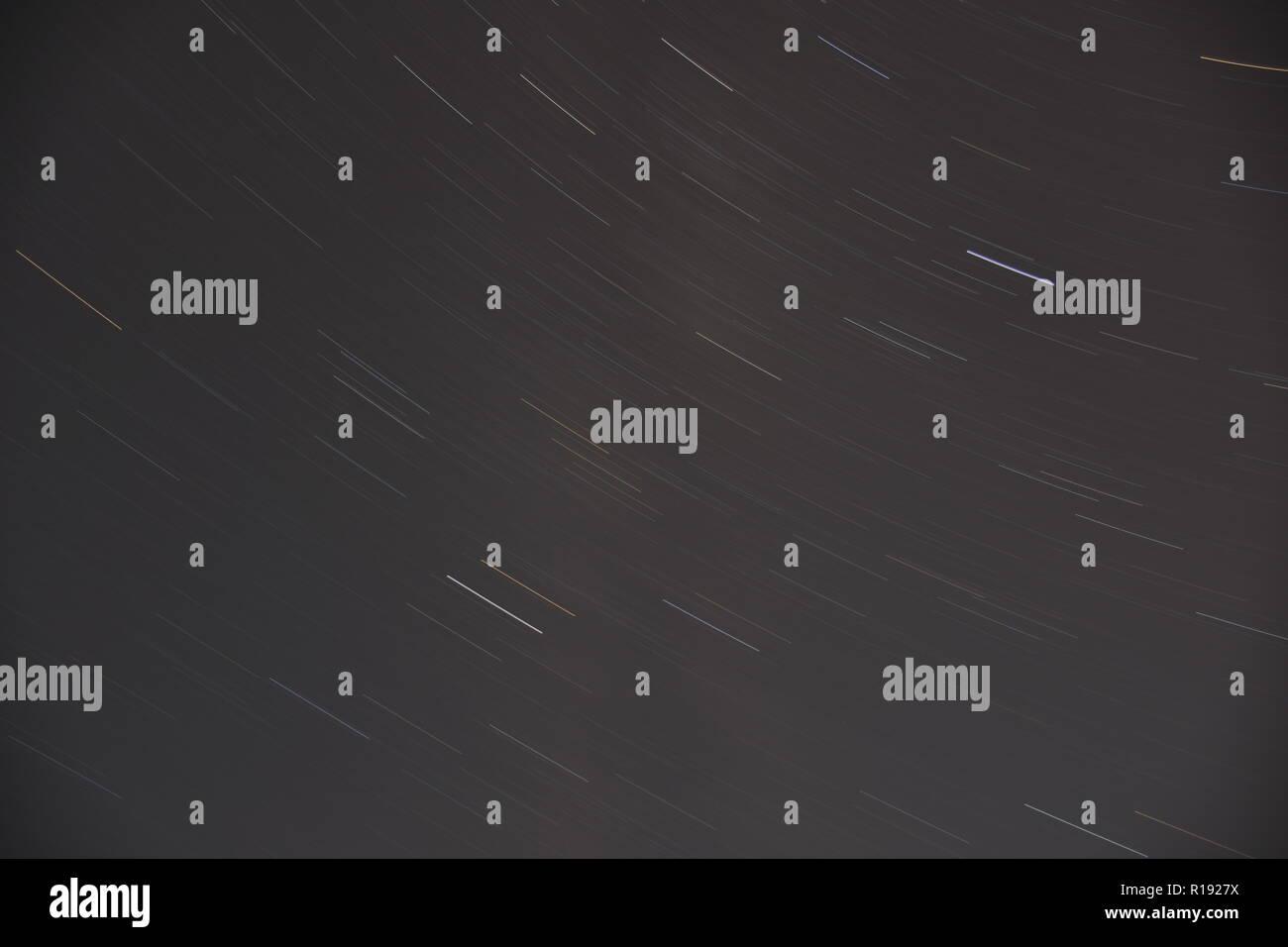 Nacht, Himmel, Sterne, zeit, Dauerbelichtung, Milchstraße, Stern, Sterne, Sonne, Planet, Lichtjahr, Entfernung, Verschmutzung, Lichtverschmutzung, Öst Stock Photo