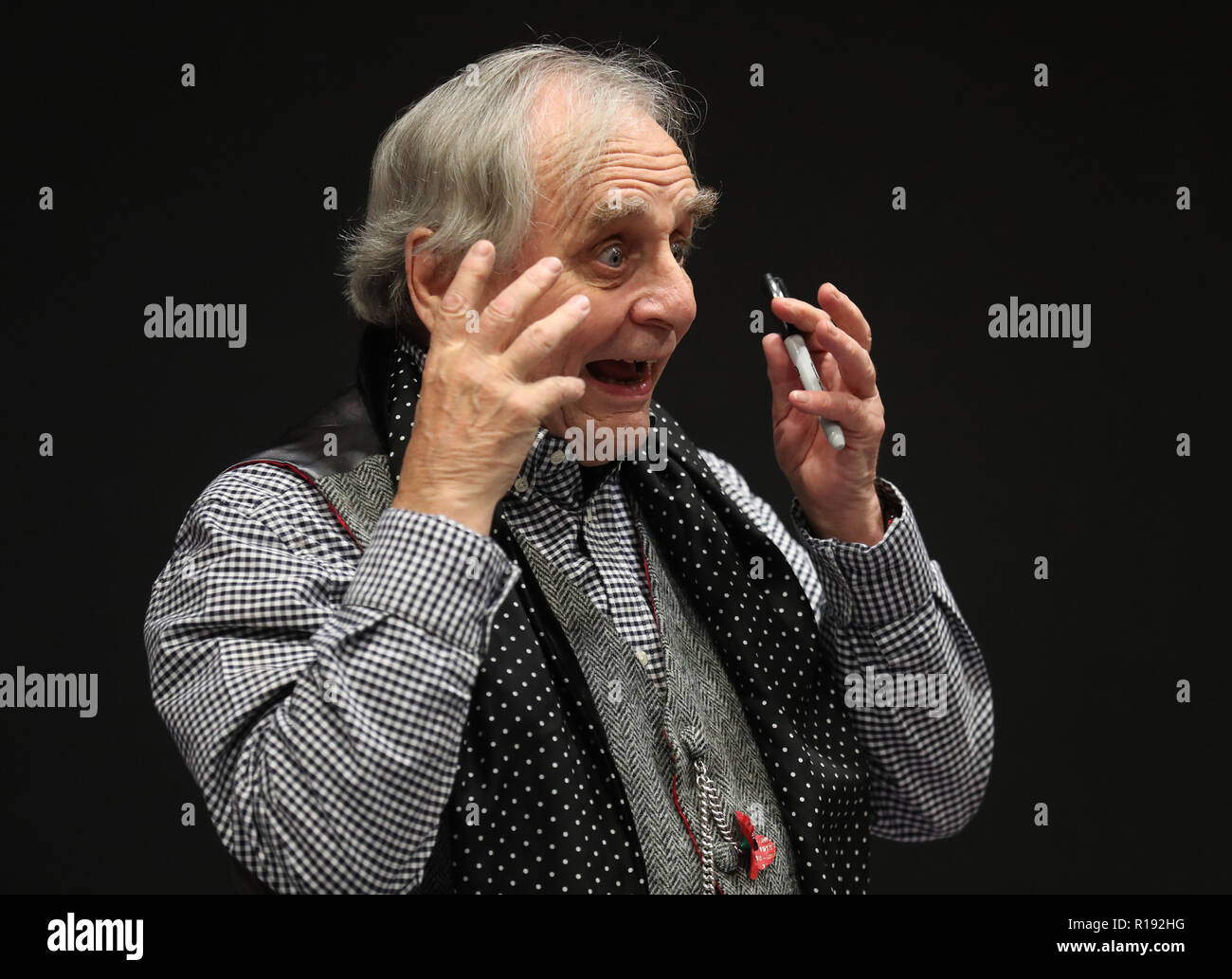 Sylvester McCoy during the FOR THE LOVE OF 80s -Comic Con Scotland event at the Edinburgh International Conference Centre. - Stock Image