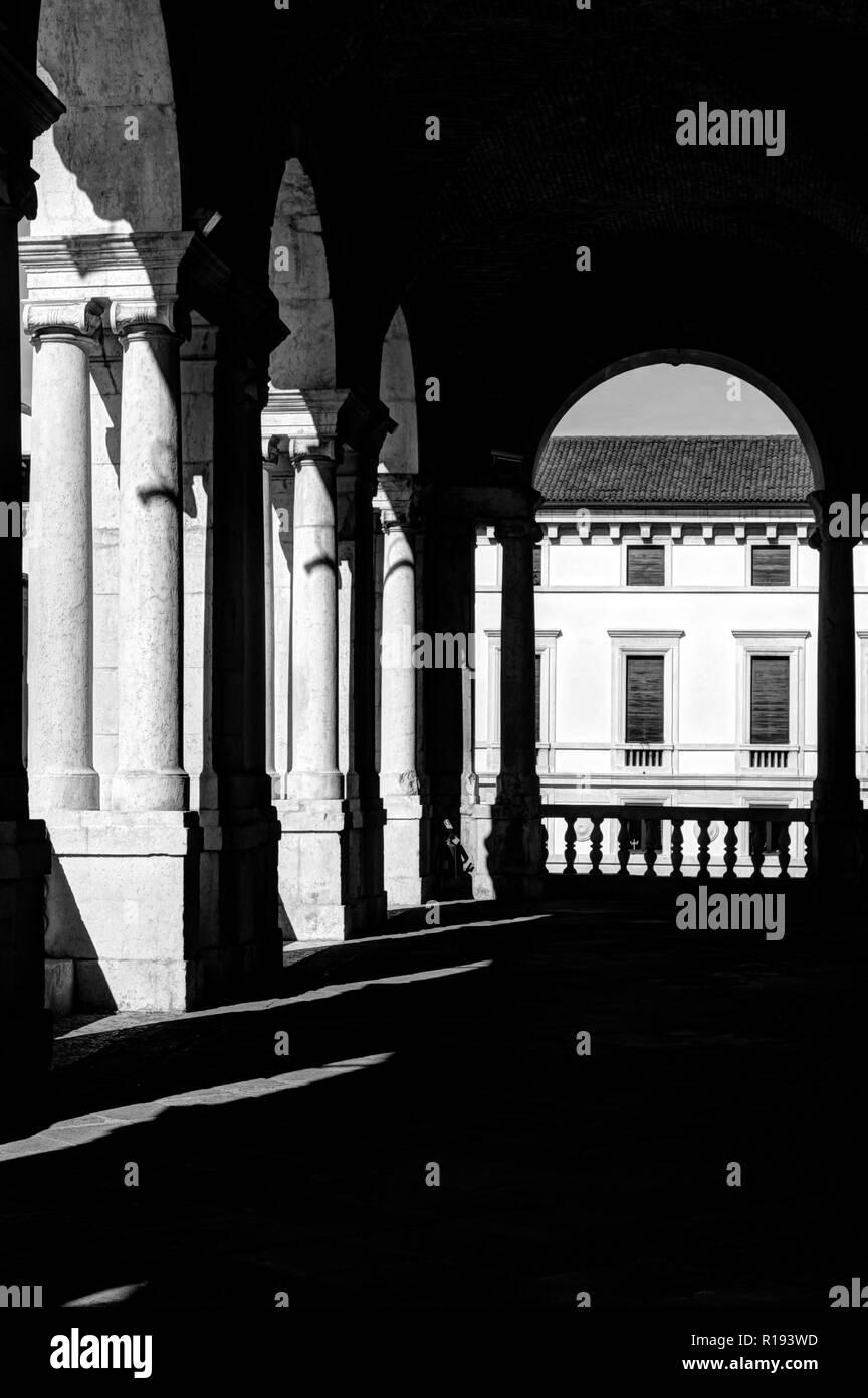 Basilica Palladiana arcades in Vicenza - Stock Image