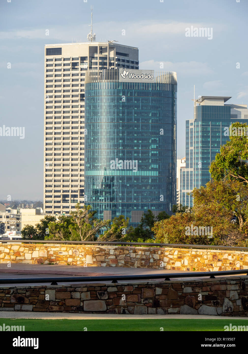 Capital Square Tower 1 and QV.1 Tower Perth Western Australia - Stock Image