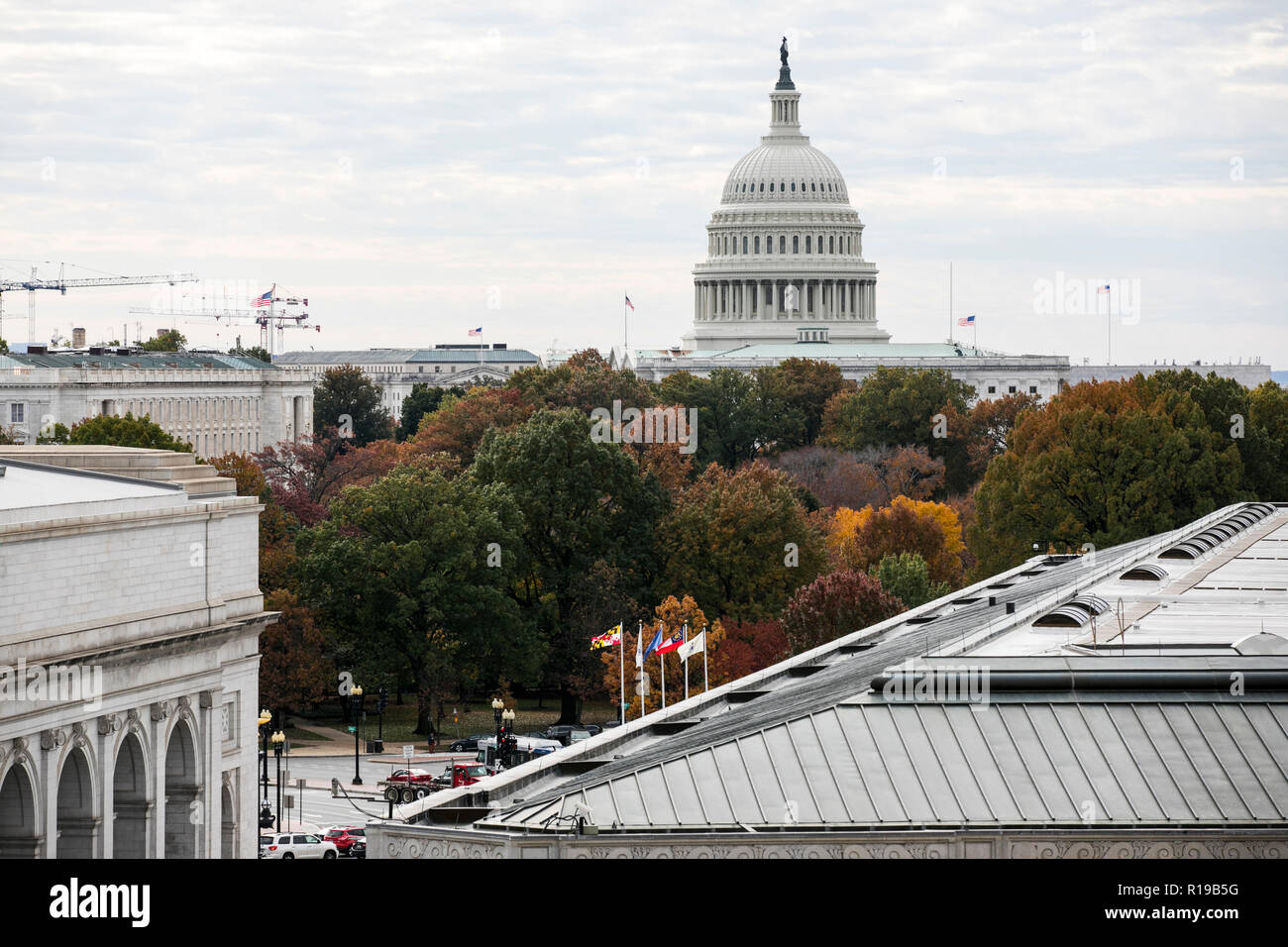 A view of the The United States Capitol Building in Washington, D.C. on November 7, 2018. - Stock Image