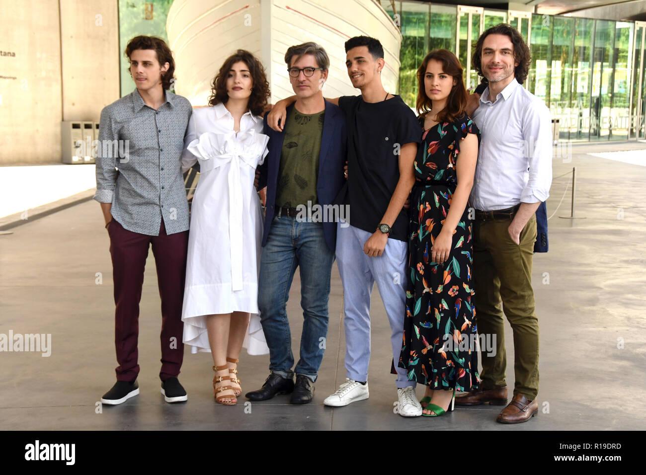 Rome Italy 15 June 2018 - MAXXI -  film presentation DEI Il cast Credit: Giuseppe Andidero - Stock Image