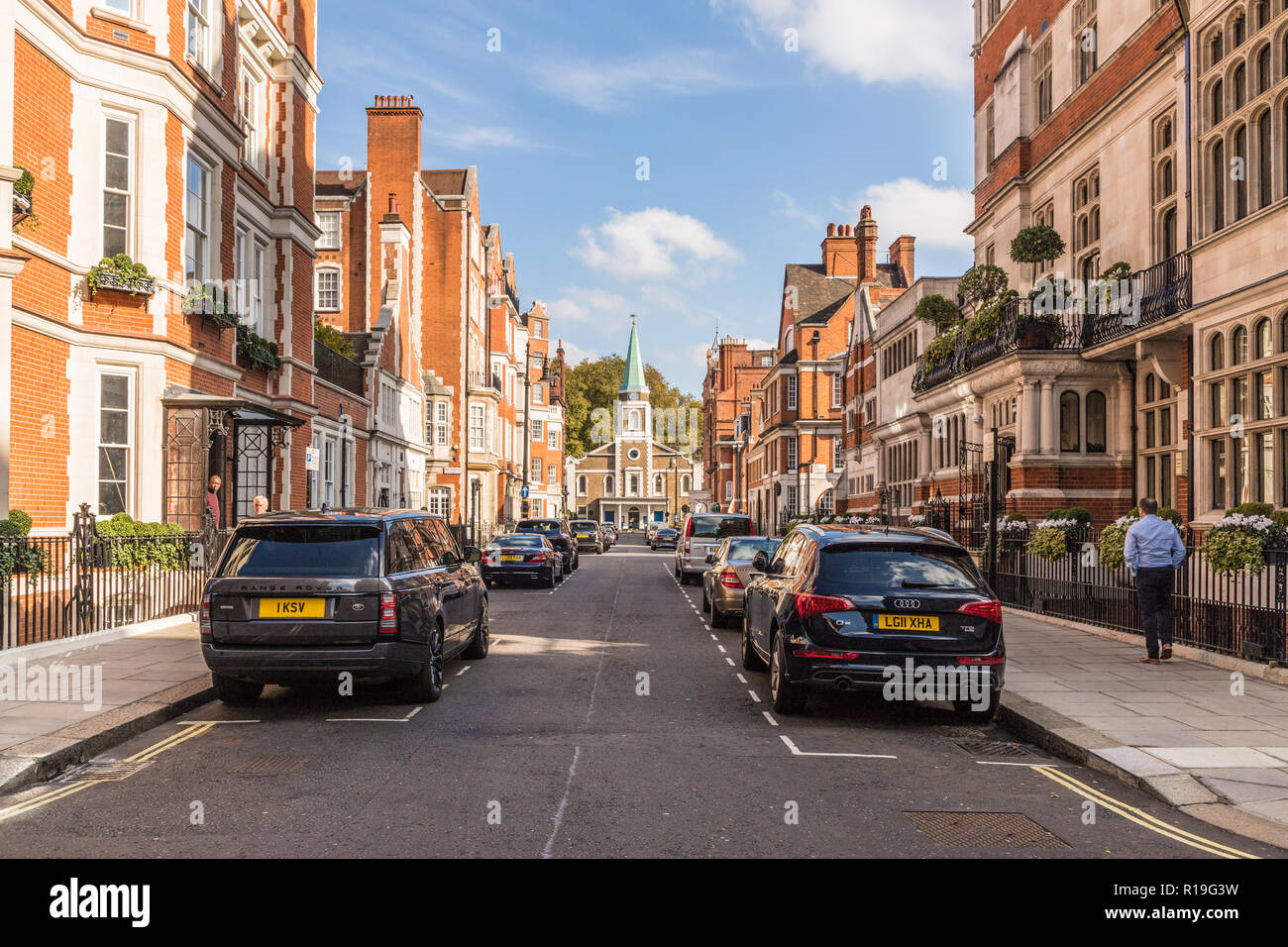 A typical view in Mayfair - Stock Image