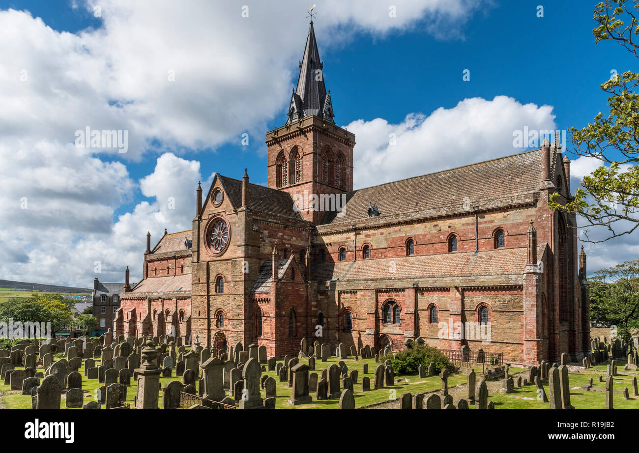 st magnus cathedral, orkney - Stock Image