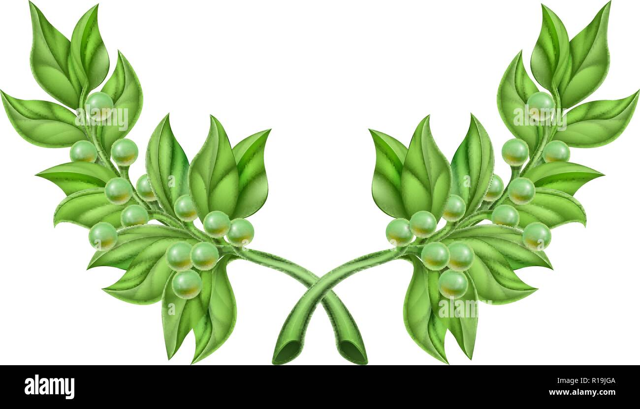 Olive Branch Wreath - Stock Image