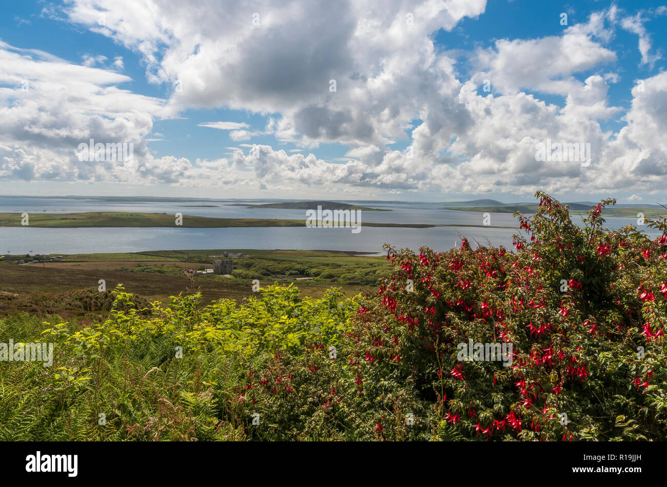 View to South from Rousay, Orkney - Stock Image