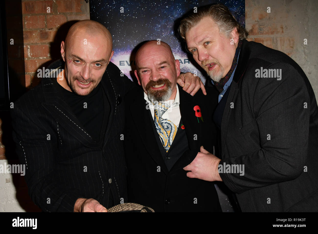 Sean Cronin, Derek Carey Vernon and Rock Salt arrivers at Eleven Film Premiere at Picture House Central, Piccadilly Circus on 10 November 2018, London, Uk. - Stock Image