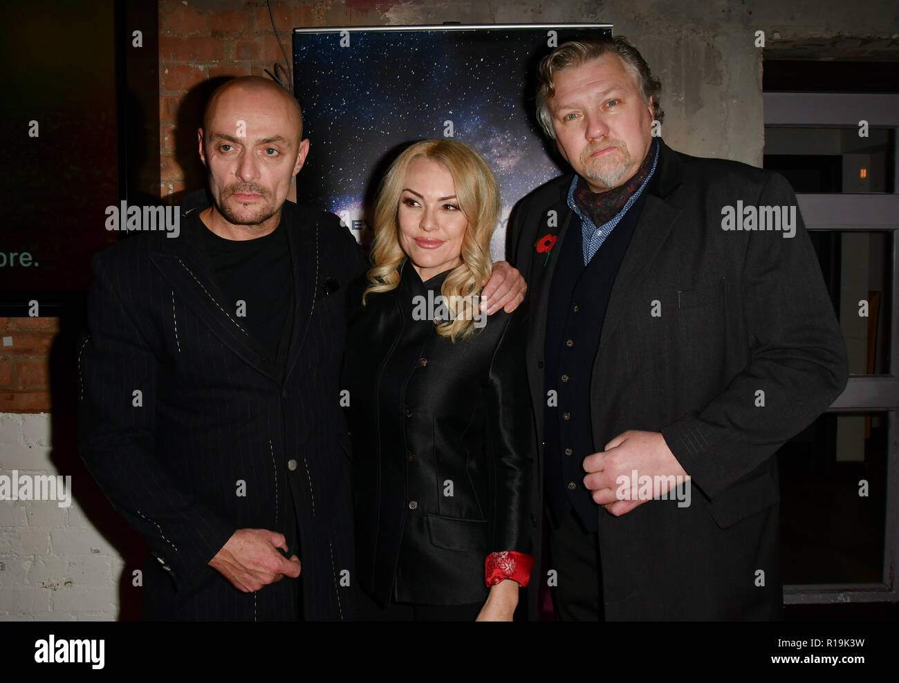 Sean Cronin, Sarina Taylor and Rock Salt arrivers at Eleven Film Premiere at Picture House Central, Piccadilly Circus on 10 November 2018, London, Uk. - Stock Image