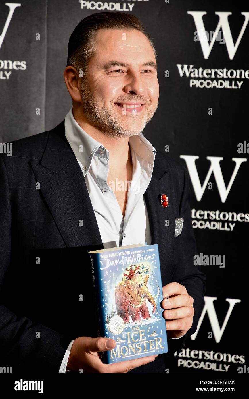 London, UK. 10th Nov, 2018. David Walliams, Presscall and Booksigning for his newest novel 'The Ice Monster',Waterstones Piccadilly,203-206 Piccadilly,London.UK Credit: michael melia/Alamy Live News - Stock Image