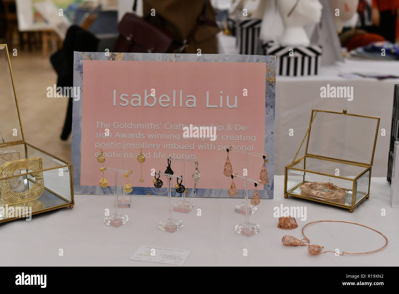 London, UK. 10th Nov, 2018. Winter blossom fair: A celebration of east asian art, craft and design exhibition at China Exchange on 10 November 2018, London, UK. Credit: Picture Capital/Alamy Live News - Stock Image
