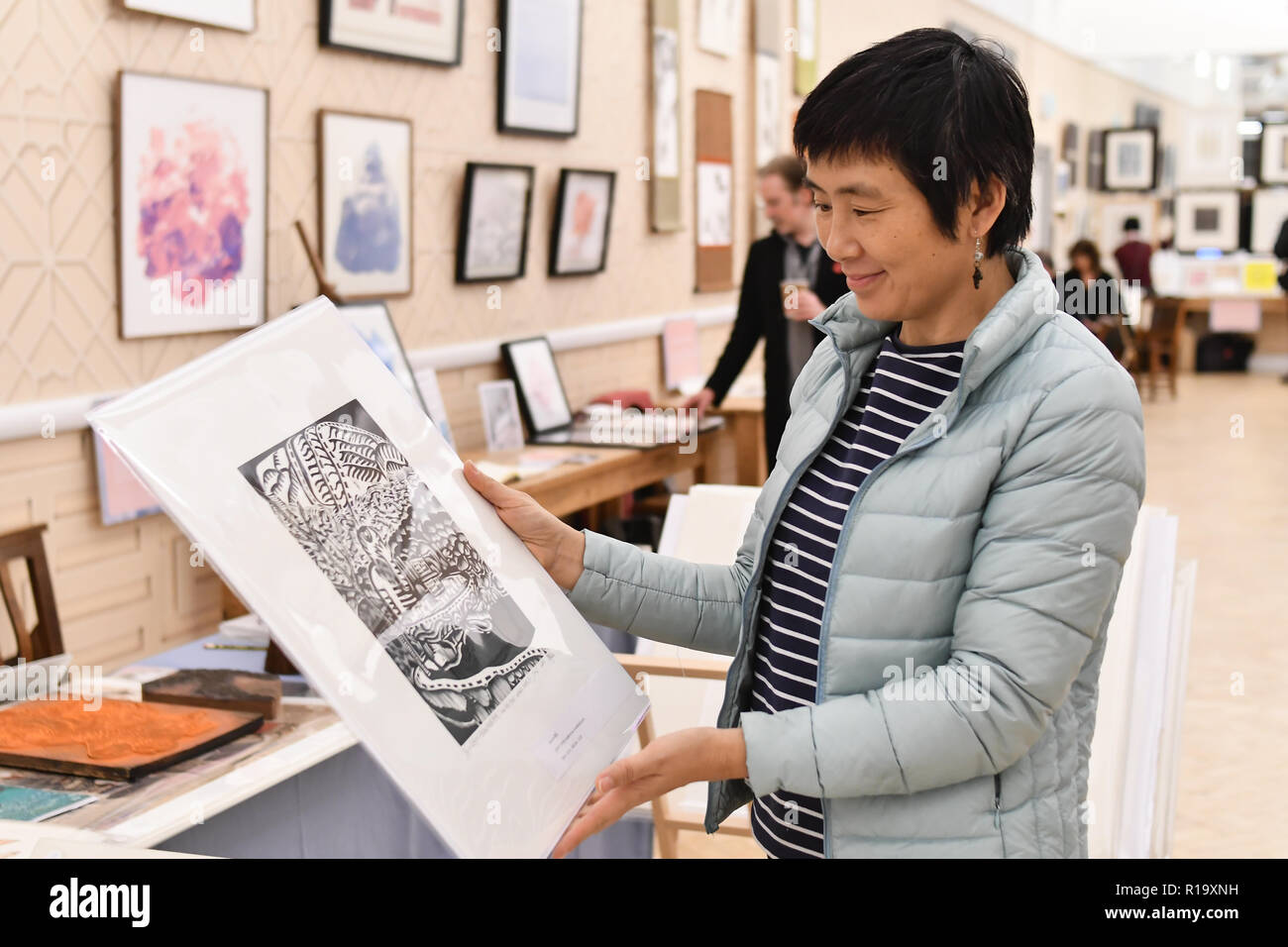London, UK. 10th Nov, 2018. Muban Educational Trust exhibition at Winter blossom fair: A celebration of east asian art, craft and design at China Exchange on 10 November 2018, London, UK. Credit: Picture Capital/Alamy Live News - Stock Image